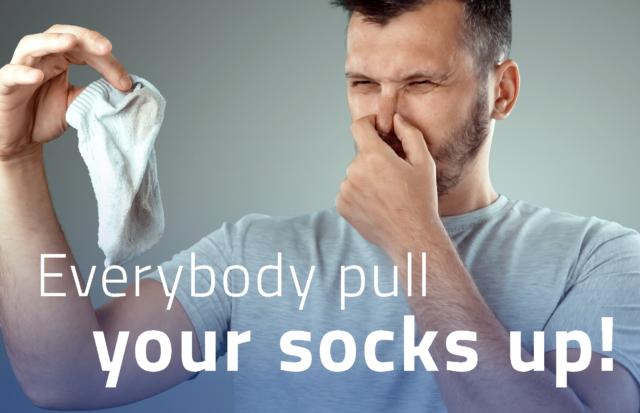 stinking socks, sweaty socks, freh socks